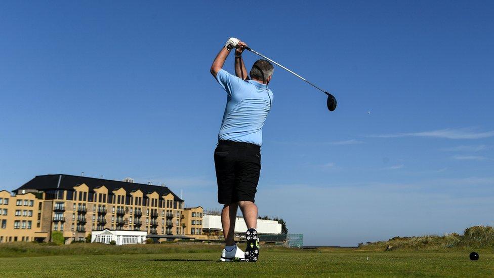 St Andrews golfer