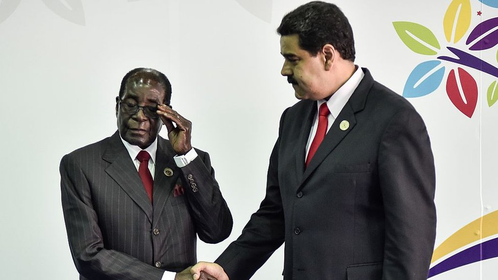 Mugabe y Maduro