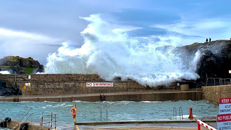 A maximum wave height of close to 30 metres (98ft) was recorded on Wednesday