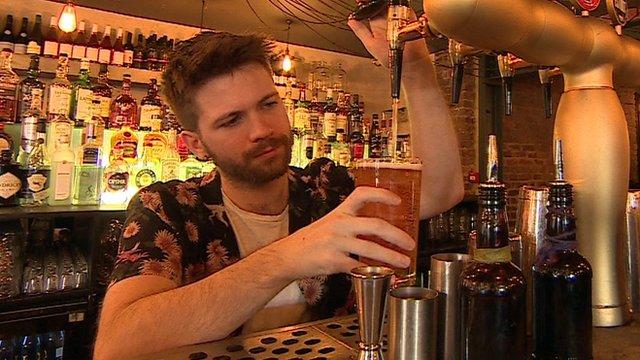 A bartender