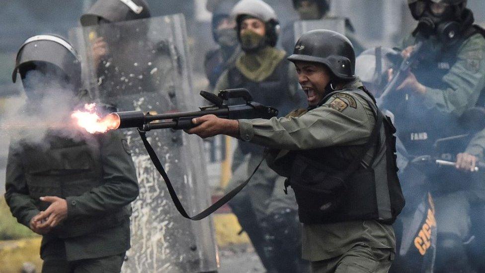 Protestas de 2017 en Venezuela.