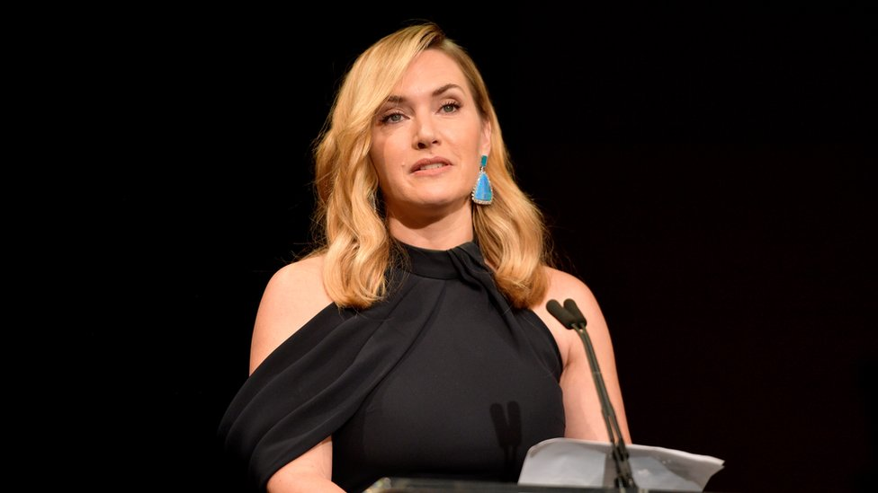 Ms Winslet pictured accepting an award in 2017