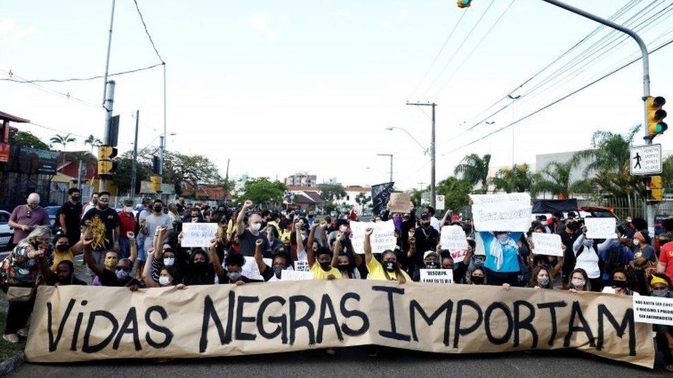 Protesto pela morte de Beto Freitas, em Porto Alegre, 20 de novembro