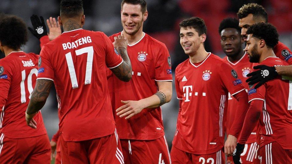Bayern Munich celebrate