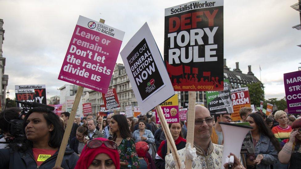 مظاهرات احتجاج على تعطيل البرلمان