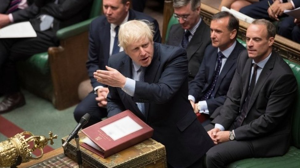 Boris Johnson in the House of Commons