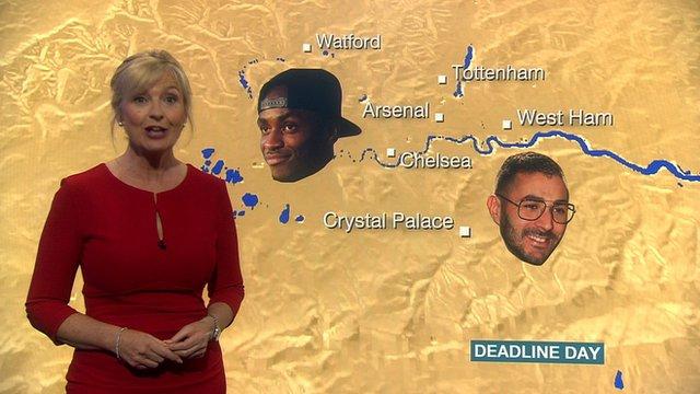 Carol Kirkwood's transfer deadline day forecast