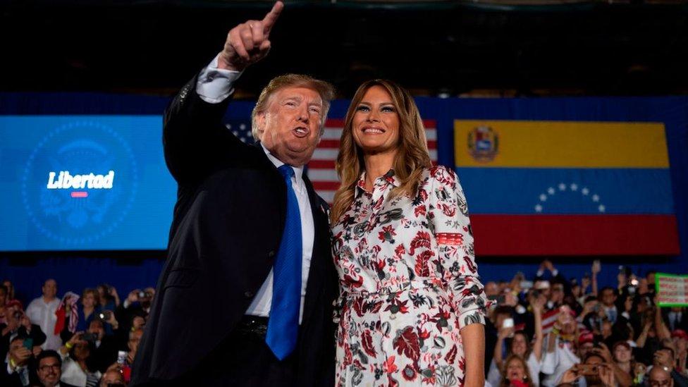 Trump y su esposa Melania.