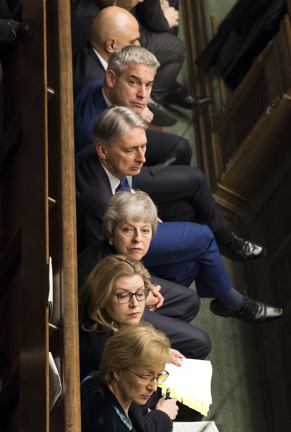 Theresa May and her front bench
