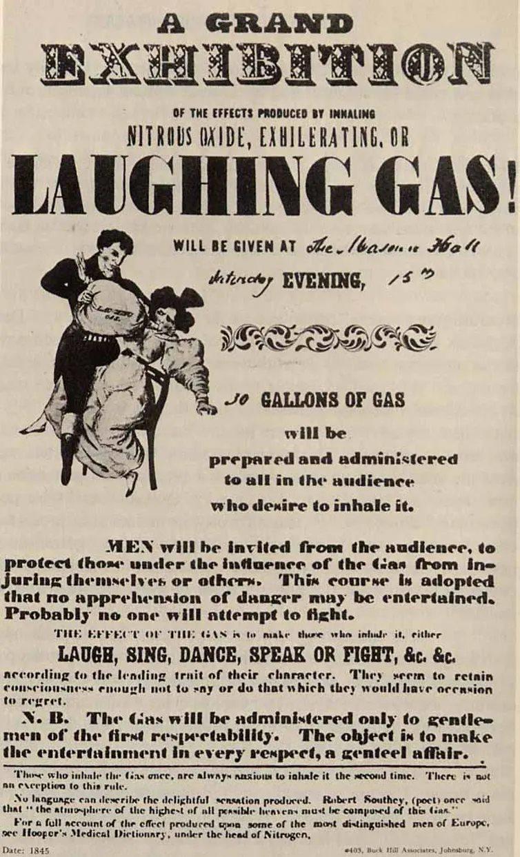 Cartel gas de la risa