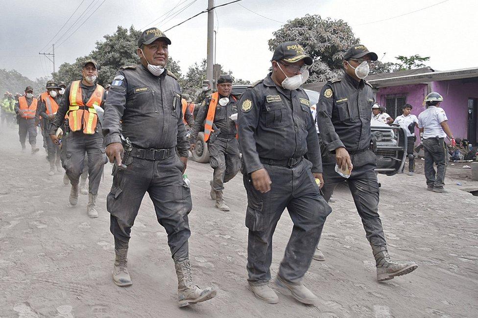 تواصل أعمال الانقاذ في فورة بركان فويغو بغواتيمالا