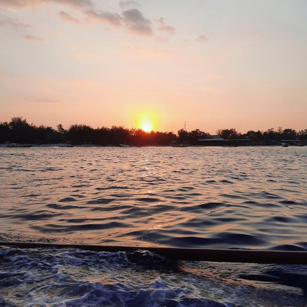 Sunrise in Indonesia.