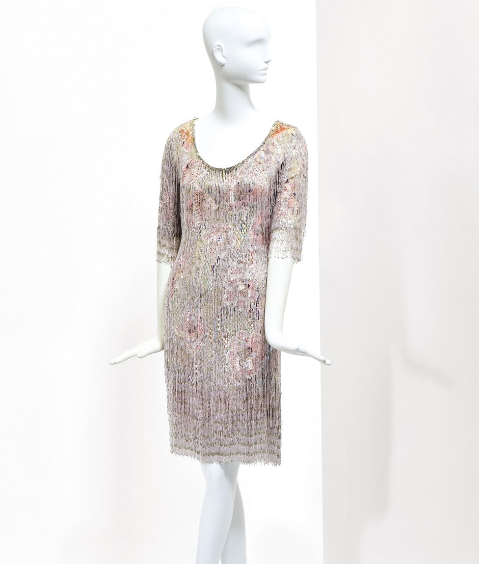 The fringed, beaded mini-dress in which Deneuve met director Alfred Hitchcock in 1969