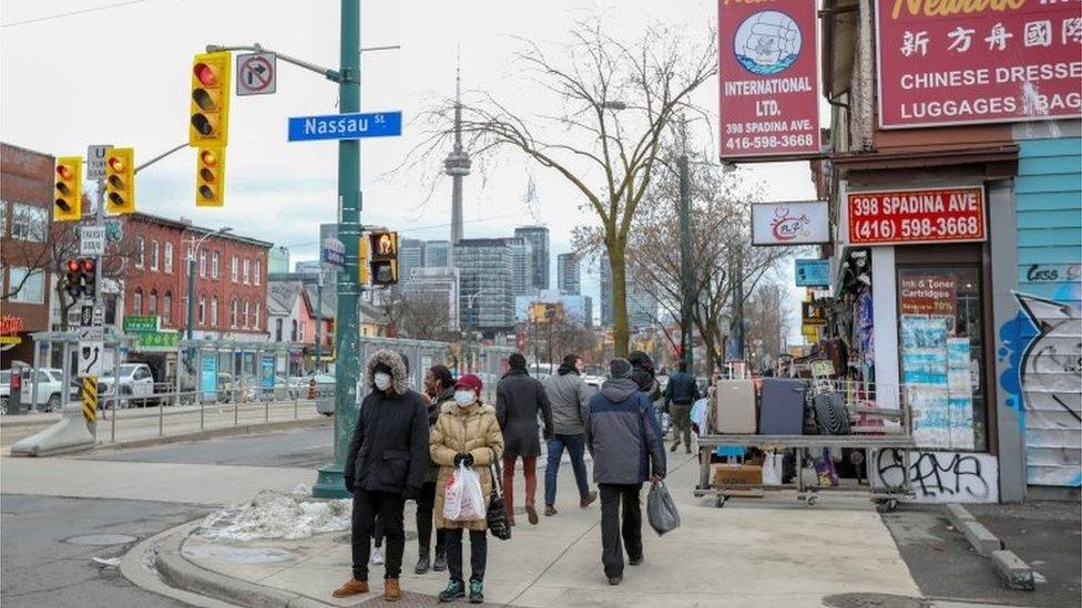 Una calle del barrio chino de Toronto