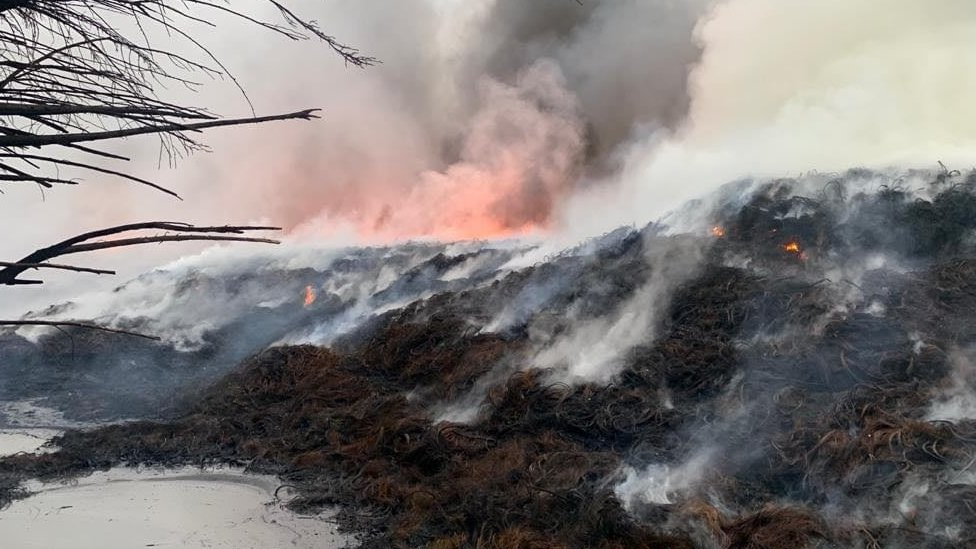 Scene of blaze