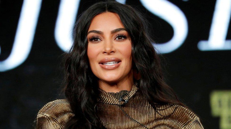 Kim Kardashian en California, en enero de 2020.