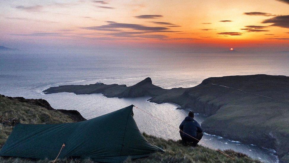 It was taken at Waterstein Head over looking Neist Point on the Isle of Skye.