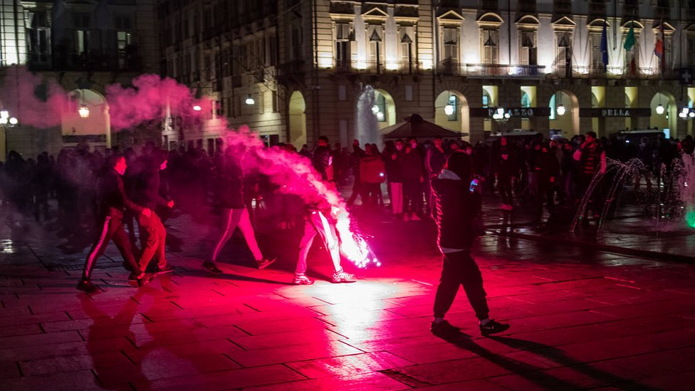 Protesta en Turín