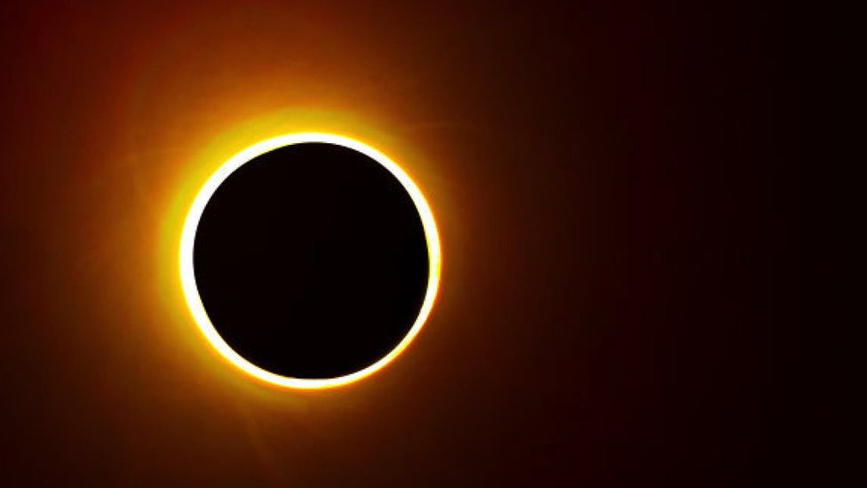 Annular solar eclipse seen from Chiayi in southern Taiwan on June 21th, 2020.