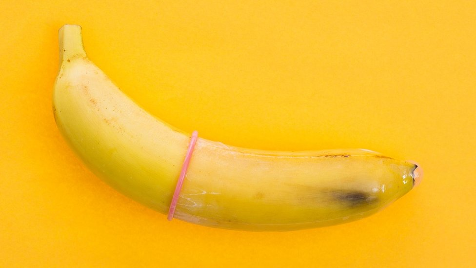 There is a banana condom.