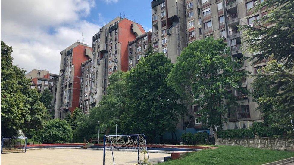 Barrio donde vivió Novak Djokovic de niño.