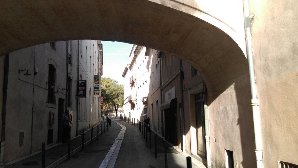 Rue de l'Agau in the centre of Nimes