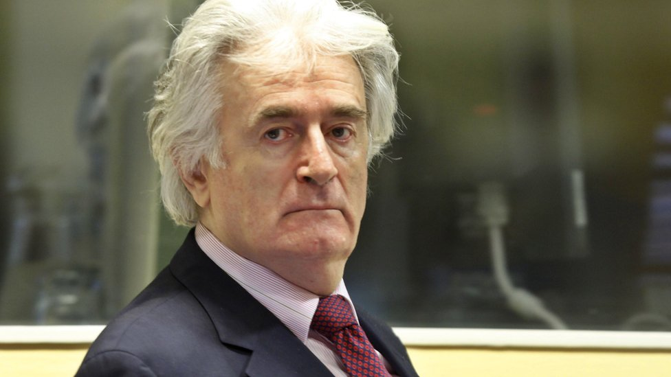 Bosnian Serb leader Radovan Karadzic pictured in 2009