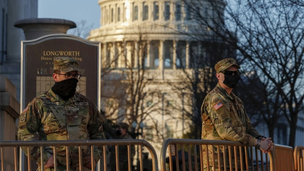 Guardia Nacional deslegada en Washington.
