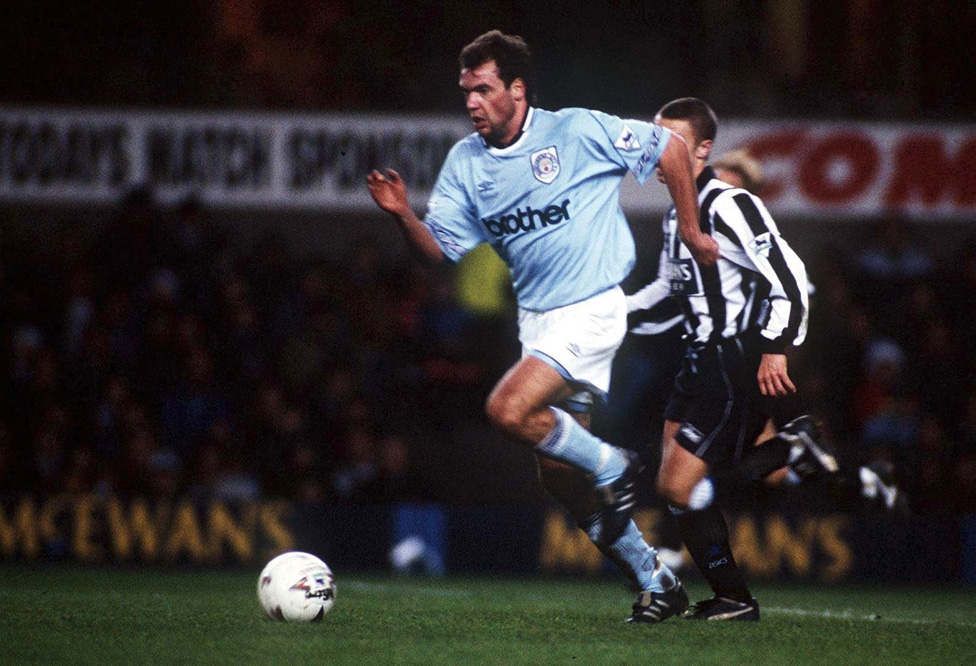 Uwe Rosler playing for Manchester City, 1994