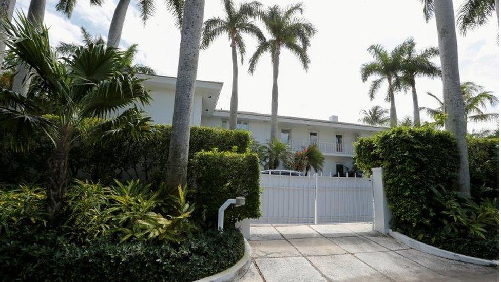 Palm Beach residence belonging to US financier Jeffrey Epstein, March 2019