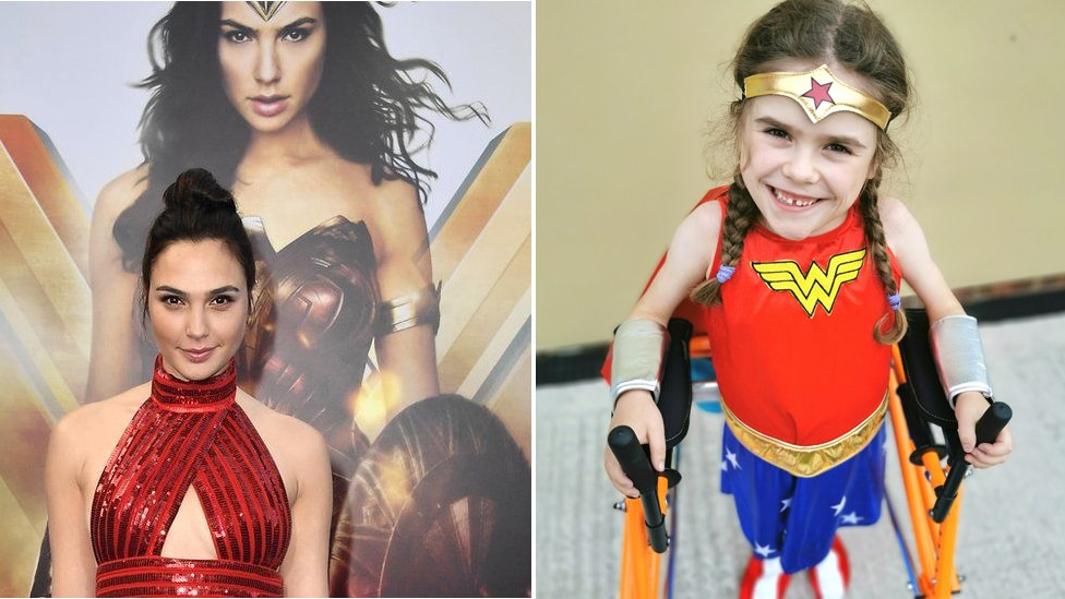 Gal Gadot Donates Thousands To Real Wonder Girl Bbc News