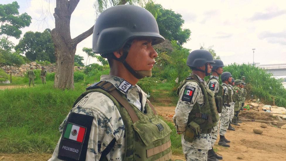 La Guardia Nacional vigila la frontera sur de México