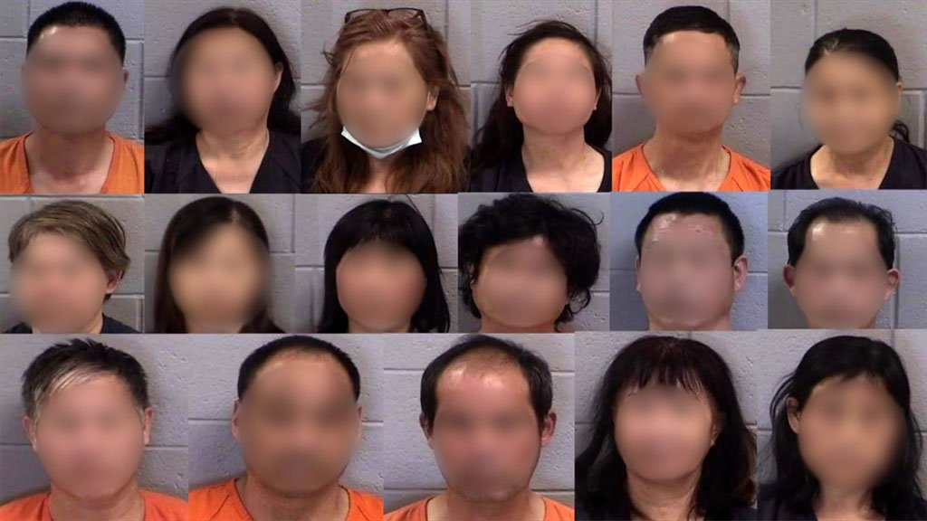 Mugshots of Xia and her coworkers