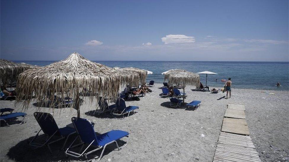 Una playa en Grecia