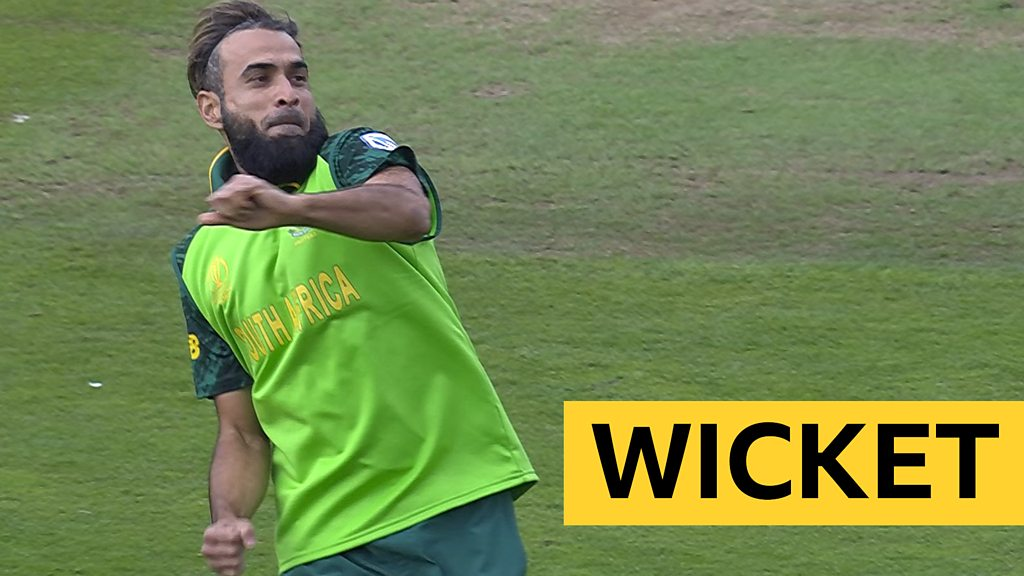 Cricket World Cup: Imran Tahir bowls Noor Ali with a superb googly and takes easy return catch