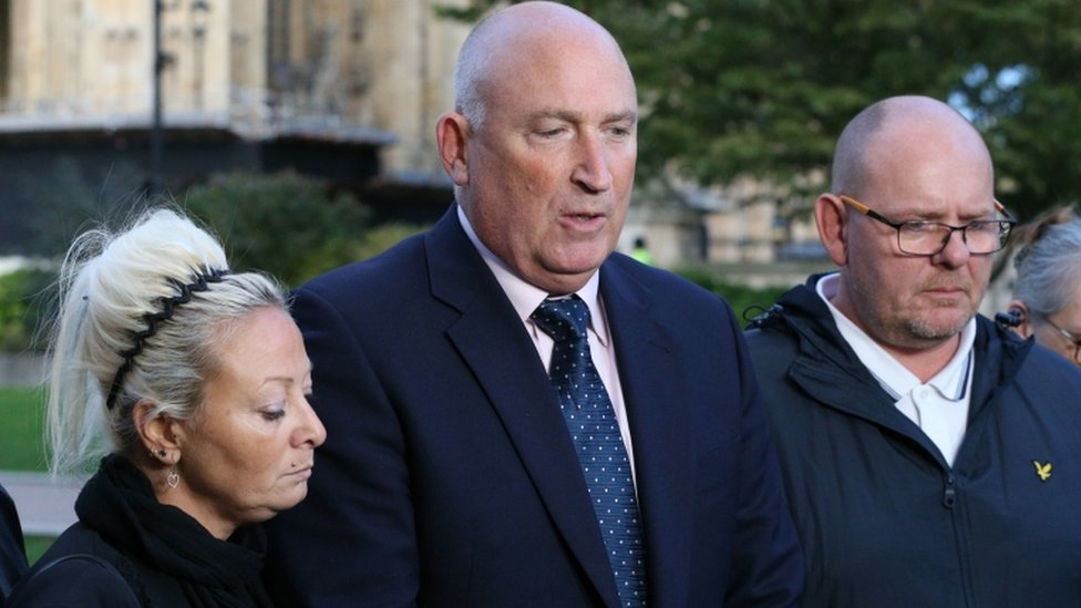 Harry Dunn's parents with their solicitor