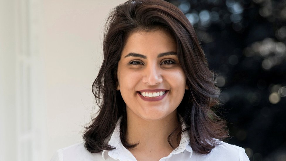 "Saudi women""s rights activist Loujain al-Hathloul is seen in this undated handout picture"
