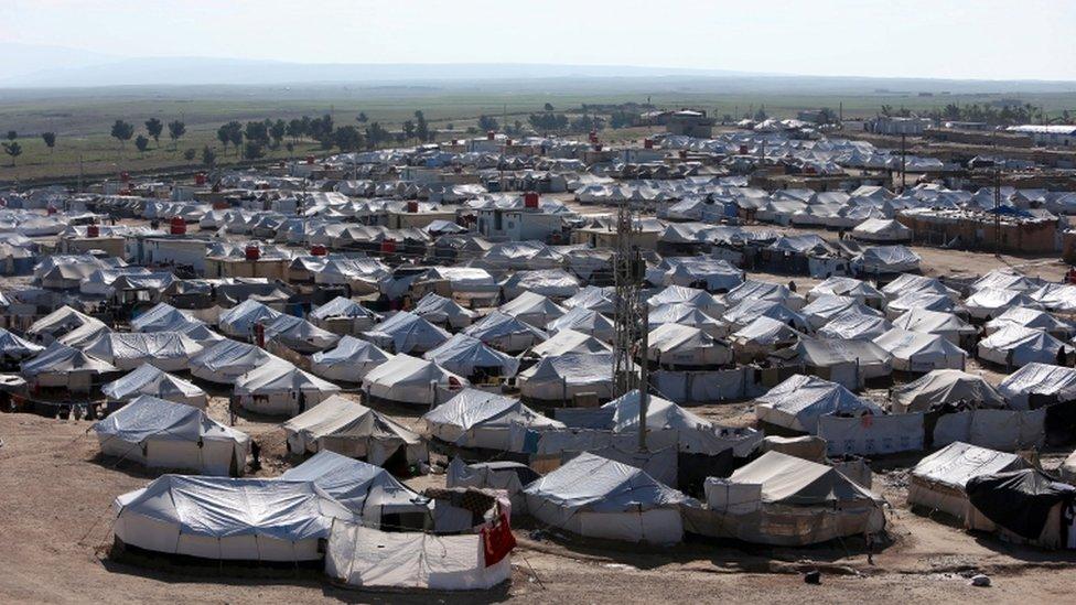 مخيم الحول شمال شرقي سوريا