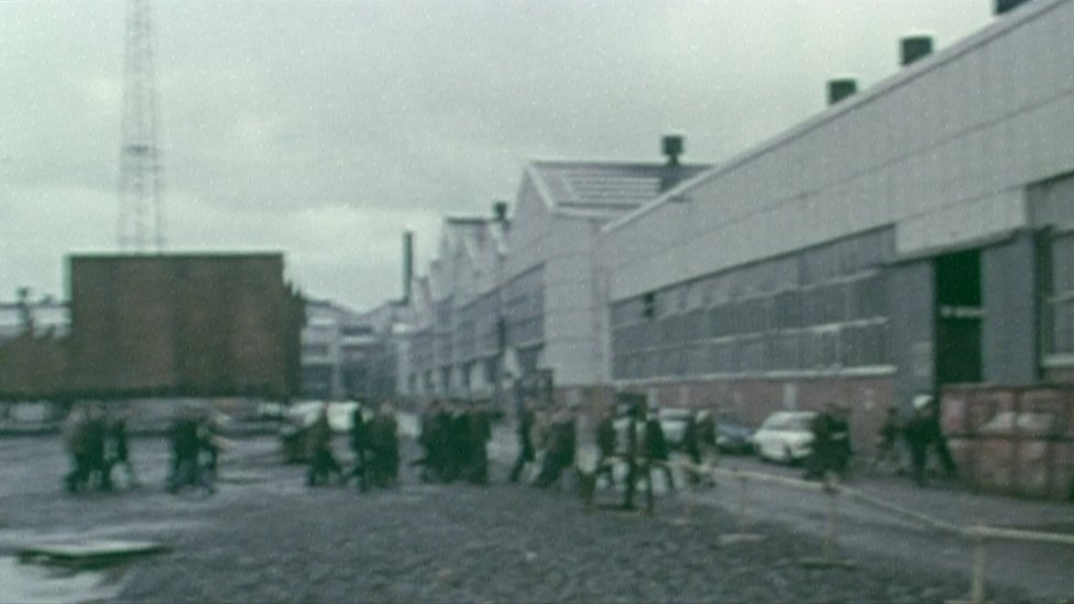 A 1970s BBC report focused on complaints of sectarianism by Catholic shipyard staff