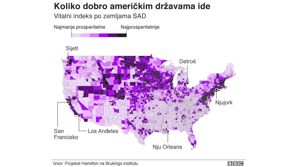 Mapa prosperiteta Amerike