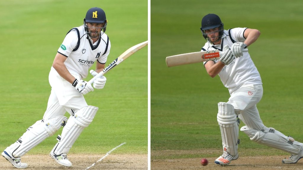 County Championship: Bears openers Will Rhodes & Dom Sibley bat Sussex out of game