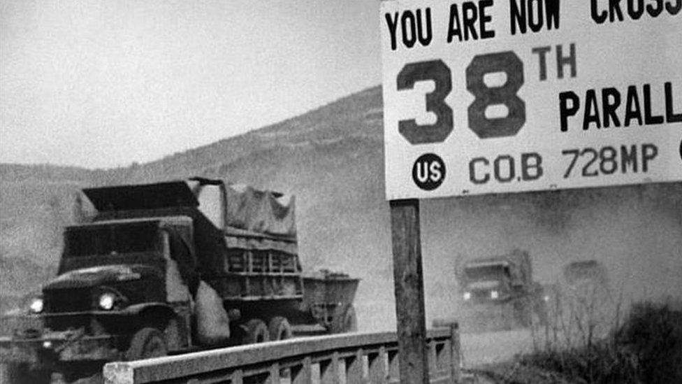 خط عرض 38 الذي يفصل الكوريتين