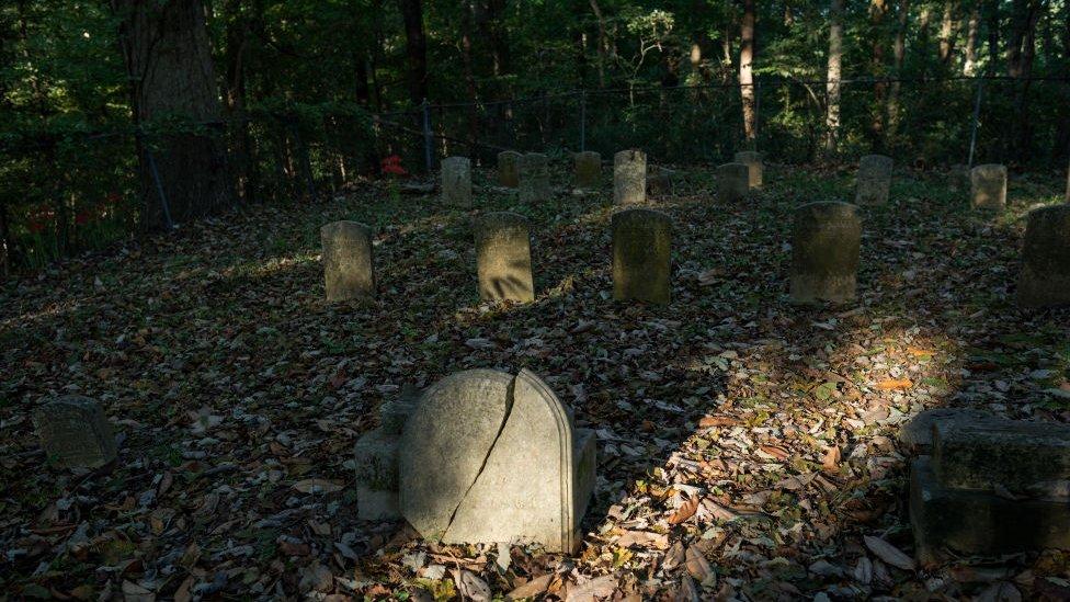 Un cementerio en Arkansas