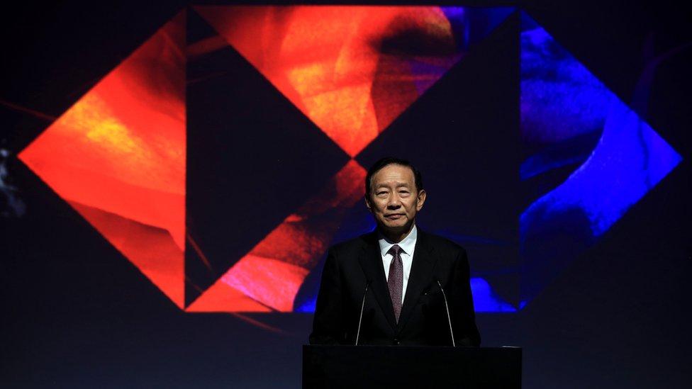 王冬勝在上海出席匯豐贊助之活動(29/10/2019)