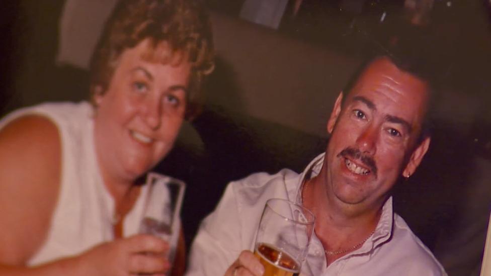 Geraint Jones and wife Karisa