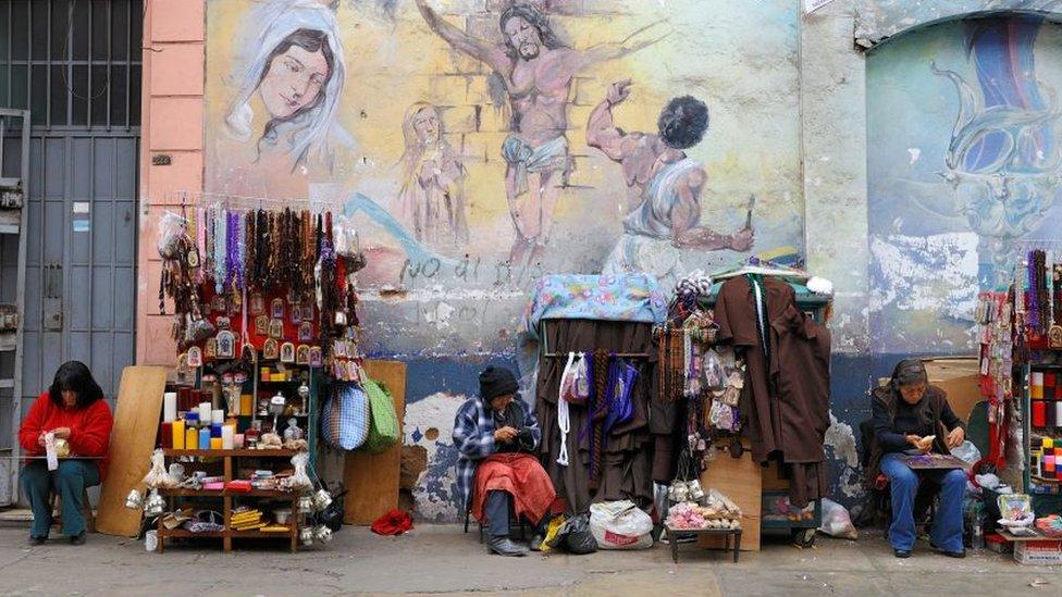 Vendedoras informales en las calles de Lima, 26 de julio de 2017