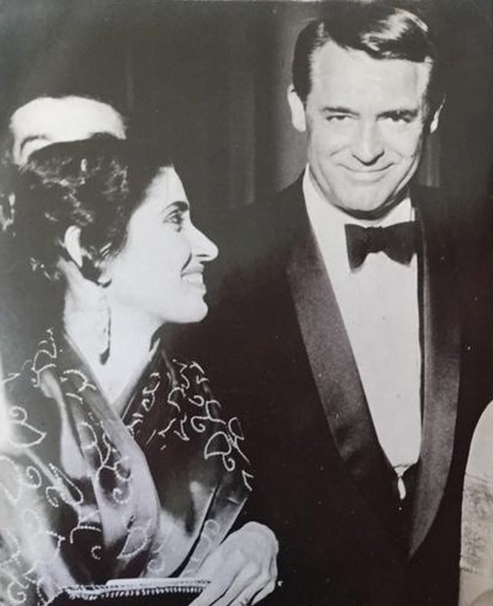 Gulshan Ewing with Cary Grant