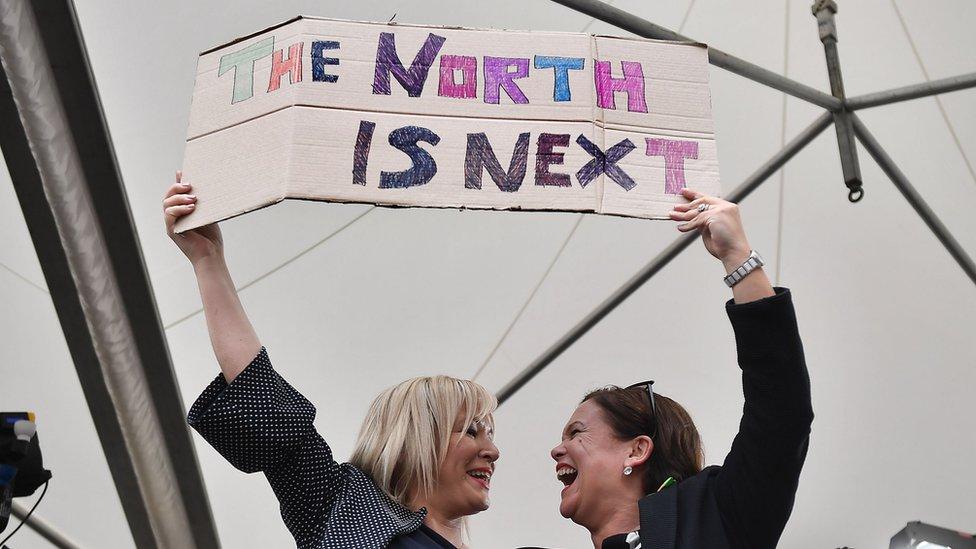 Sinn Féin's Michelle O'Neill and Mary Lou McDonald