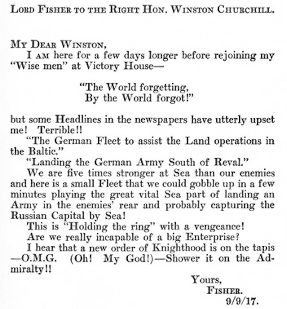 The letter in which OMG was used