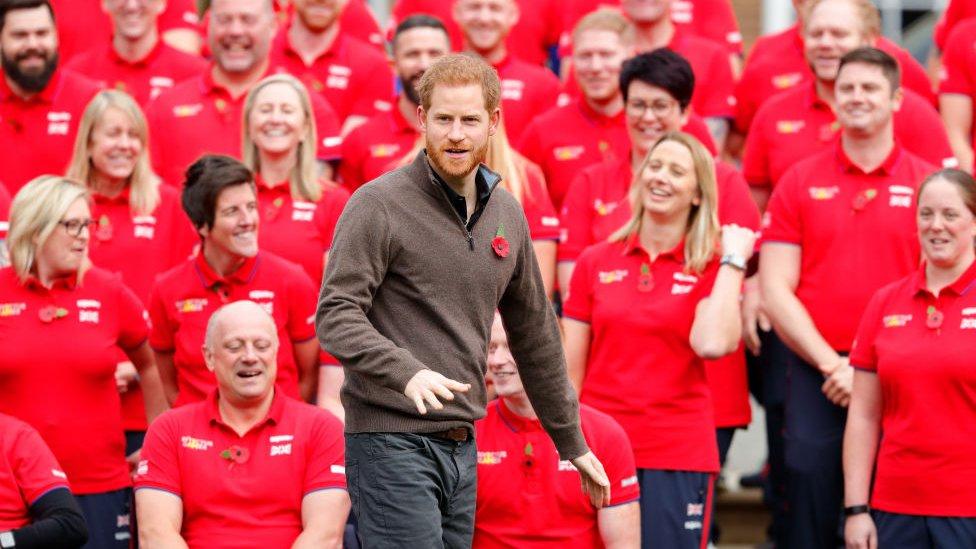 Príncipe Harry durante un evento de promoción de The Invictus Games.